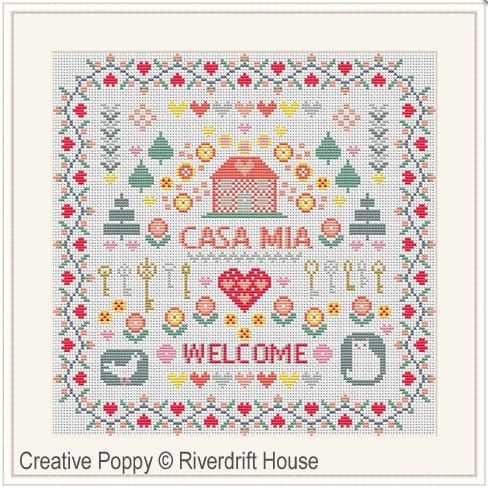 click here to view larger image of Casa Mia (counted cross stitch kit)