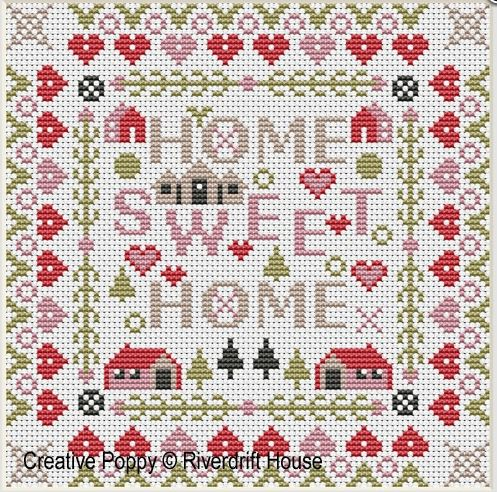click here to view larger image of Mini Home Sweet Home (counted cross stitch kit)