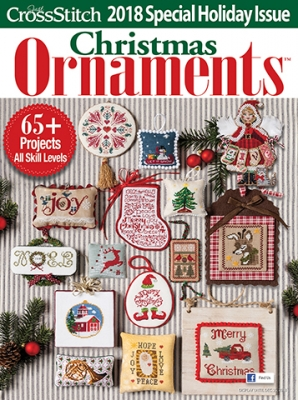 click here to view larger image of Just Cross stitch - 2018 Christmas Ornaments (magazines)