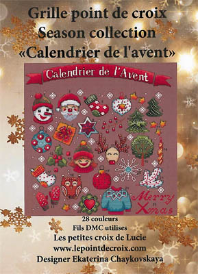 click here to view larger image of Calendrier De L'avent (chart)