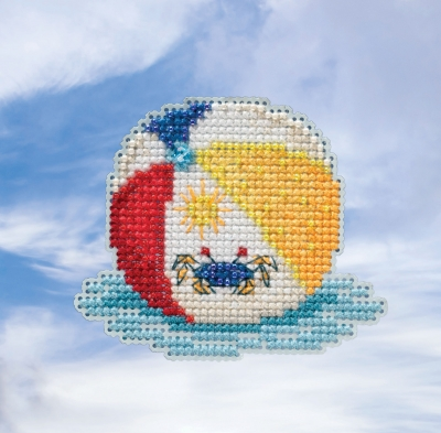 click here to view larger image of Beach Ball - Spring Bouquet Seasonal Ornament (counted cross stitch kit)