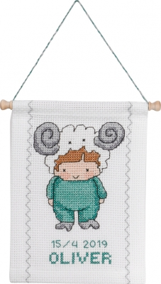 click here to view larger image of Aries (counted cross stitch kit)