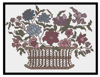 click here to view larger image of  Margaretha's Flower Basket (chart)
