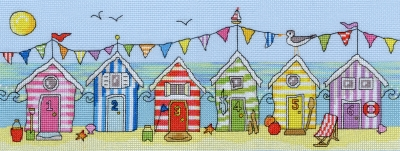 click here to view larger image of Beach Hut Fun (counted cross stitch kit)