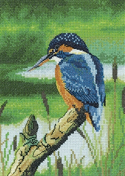 click here to view larger image of Kingfisher (counted cross stitch kit)