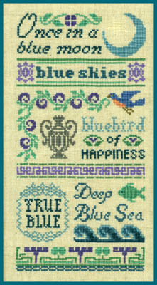 click here to view larger image of Antique Blue Sampler (chart)