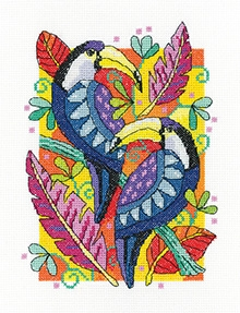 click here to view larger image of Toucans (counted cross stitch kit)
