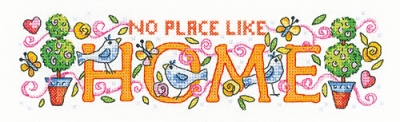 click here to view larger image of No Place Like Home  (counted cross stitch kit)