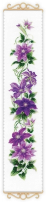 click here to view larger image of Clematis (counted cross stitch kit)