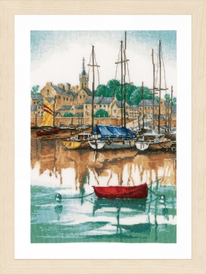 click here to view larger image of Sunrise at Yacht Harbour (counted cross stitch kit)