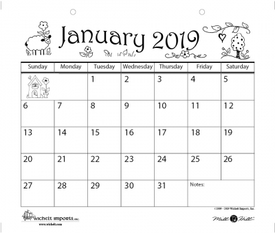 click here to view larger image of 2019 Mill Hill Calendar (accessory)