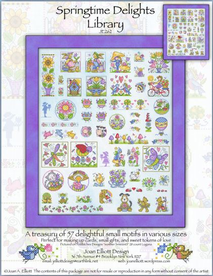 click here to view larger image of Springtime Delights Library (chart)