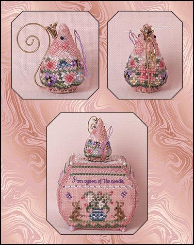 click here to view larger image of Queen of the Needle Mouse - Limited Edition (chart with charms/buttons)