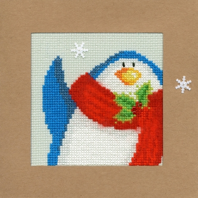 click here to view larger image of Snowy Penguin - Christmas Card  (counted cross stitch kit)