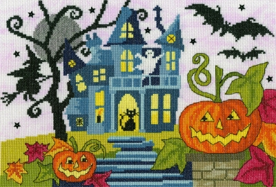 Spooky! - Halloween - click here for more details about counted cross stitch kit