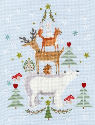 click here to view larger image of Snowy Stack (counted cross stitch kit)