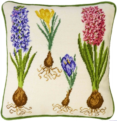 click here to view larger image of Hyacinth and Crocus (needlepoint kit)