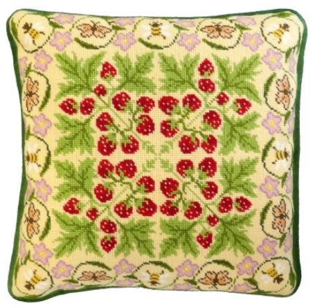 click here to view larger image of Strawberry Patch, The (needlepoint kit)