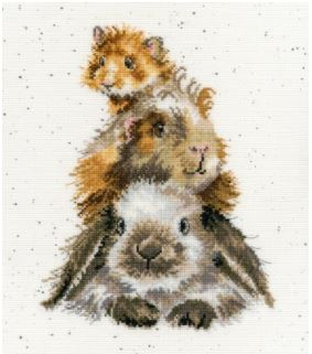 click here to view larger image of Piggy In The Middle - (Hannah Dale) (counted cross stitch kit)