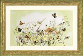 click here to view larger image of Butterflies and Flowers (counted cross stitch kit)