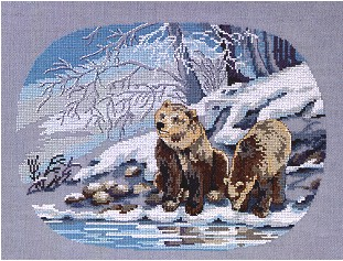 click here to view larger image of Bears (counted cross stitch kit)