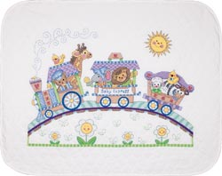 click here to view larger image of Baby Express Quilt (stamped cross stitch kit)