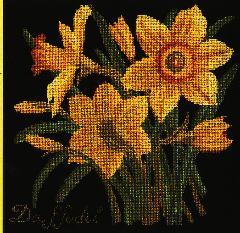 click here to view larger image of Botanical Garden - Daffodil (needlepoint)