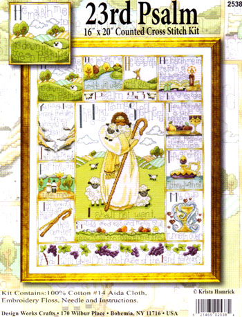 click here to view larger image of 23rd Psalm (counted cross stitch kit)