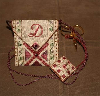 click here to view larger image of Scissor Pouch (w/scissors) Kit (counted cross stitch kit)