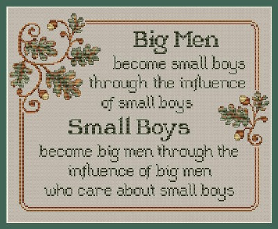 click here to view larger image of Big Men and Small Boys (chart)