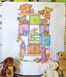 click here to view larger image of Baby Drawers Quilt  (stamped cross stitch kit)