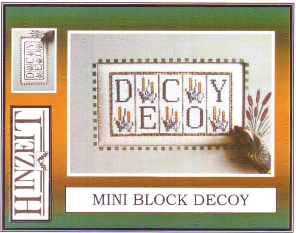 click here to view larger image of Decoy (Ducks) - Mini Blocks (chart with charms/buttons)