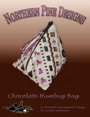 click here to view larger image of Chocolate Humbug Bag (needlepoint)