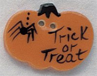 click here to view larger image of Trick or Treat Pumpkin button (buttons)