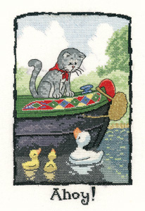 click here to view larger image of Ahoy! (counted cross stitch kit)