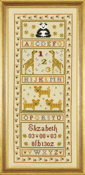 click here to view larger image of Animal Alphabet Birth Sampler (CHART) (chart)