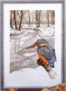 click here to view larger image of Bird - Kingfisher (counted cross stitch kit)