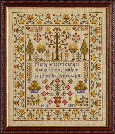 click here to view larger image of Adam & Eve Sampler - KIT (chart)