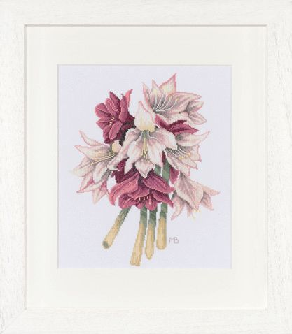 click here to view larger image of Amaryllis Flower by Marjolein Bastin - 27ct (counted cross stitch kit)