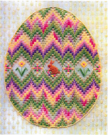 click here to view larger image of Bargello Egg (counted canvas chart)
