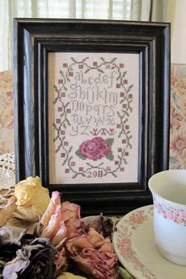 click here to view larger image of Antique Rose Sampler (chart)