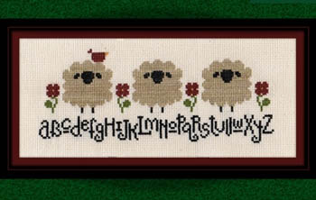 click here to view larger image of Spring Sheep Alphabet (chart)