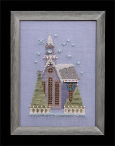 click here to view larger image of Little Snowy Lavender Church - Snow Globe Village Series (chart)