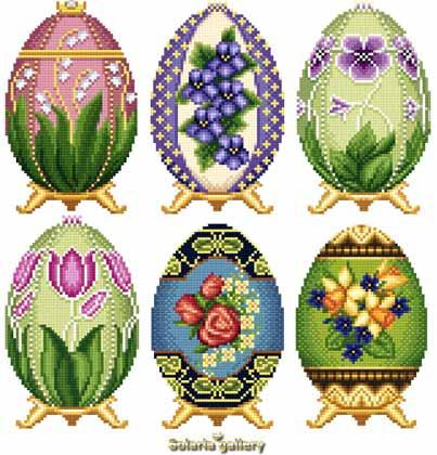 click here to view larger image of Easter Eggs in Faberge Style - Collection 2  (chart)