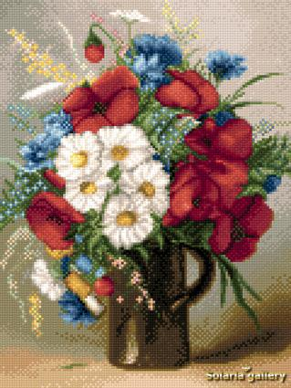 click here to view larger image of Small Bouquet of Poppies and Daisies (chart)