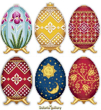 click here to view larger image of Easter Eggs in Faberge Style - Collection 3 (chart)