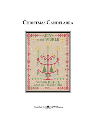 click here to view larger image of Christmas Candelabra (chart)