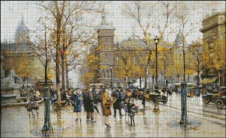 click here to view larger image of Autumn Parisian Scene - Galien-Laloue (chart)