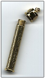 click here to view larger image of Embossed Brass Needle Case (accessory)