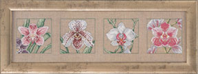 click here to view larger image of 4 Orchids (counted cross stitch kit)